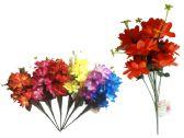 144 Units of 9 Head Flower Bouquet - Artificial Flowers