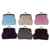 144 Units of Ladies Coin Purse Assorted Colors - Handbags