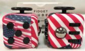 36 Units of Wholesale American Flag Pattern Fidget Cube