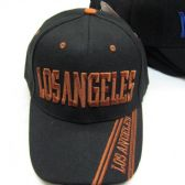 """48 Units of """"Los Angeles"""" Base Ball Cap With Los Angeles In Stripes - Baseball Caps & Snap Backs"""