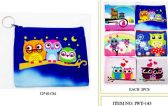 60 Units of Wholesale Coin purse with Zipper assorted Owl design - PURSES/WALLETS
