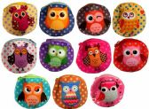 72 Units of Wholesale Polka Dot Cartoon Owl Coin Purse Assorted - PURSES/WALLETS