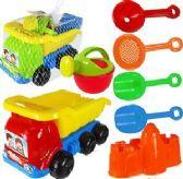 6 Units of 7 Piece Toy Dump Truck & Sand Toys - Beach Toys