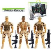 12 Units of 6 Piece Soldier Brigade Action Figures - Action Figures & Robots