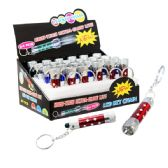 48 Units of 3 LED Flashlight Keychain - Flash Lights