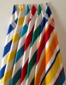 24 Units of BK Cabana Stripes-Top of the Line Beach Towel 100% Cotton Red COlor - Beach Towels