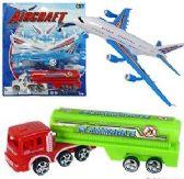 36 Units of 2 Piece Aircraft & Fuel Truck Sets - Cars, Planes, Trains & Bikes