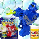 24 Units of Friction Powered Robot Carded Bubble Guns