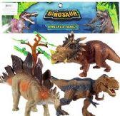 6 Units of 6 Piece Jumbo Dinosaur Sets - Animals & Reptiles