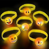 96 Units of Flashing Emoji Bracelets - Bracelets