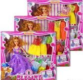 6 Units of Eight Piece Elegant Fashion Doll Sets - Dolls