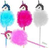 60 Units of Fluffy Unicorn Pens - Pens