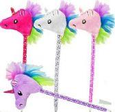 60 Units of Plush Unicorn Pens - Pens