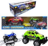 6 Units of Friction Powered King Cruiser w/ ATV & Trailer - Cars, Planes, Trains & Bikes