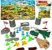 12 Units of Three Piece Military Equipment Play Sets - Action Figures & Robots