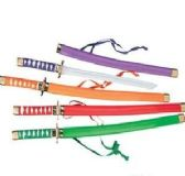 60 Units of Ninja Swords Assorted Colors - Safety Helmets