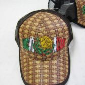 "36 Units of ""Michoacan""Straw Mesh Ball Cap"