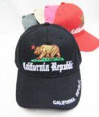 48 Units of California Republic Baseball Cap