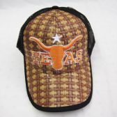 48 Units of Texas Straw Mesh Baseball Cap