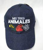 "36 Units of ""Mis Tres Animales"" Denim BaseBall Cap"