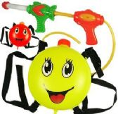 6 Units of Happy Face Backpack Water Blasters - Water Guns