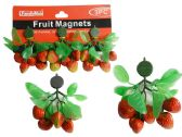 144 Units of FRUIT MAGNETS 3PC STRAWBERRY PACKING - Refrigerator Magnets
