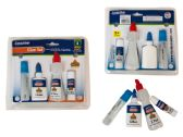 48 Units of 4 Pack School Glue Set - Glue Office and School
