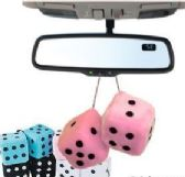 "72 Units of 3"" Mini Plush Fuzzy Dice - Auto Accessories"