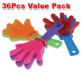 80 Units of 36 Piece Mini Hand Clapper Noisemakers - Magic & Joke Toys