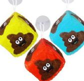"48 Units of 2.5"" Plush Emoji Poo Dice Window Hangers - Plush Toys"