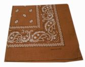 72 Units of Paisley Bandana In Golden Brown - Bandanas