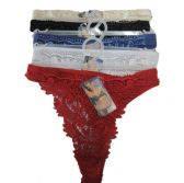 72 Units of Womens Thong Color Assorted Size:S/M/L/XL - Womens Panties & Underwear