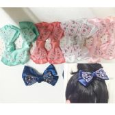 50 Units of Girls Floral Assorted Colored Hair Clip - Hair Fancy Clips