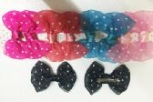 50 Units of Girls Polka Dot Assorted Colored Hair Clip - Hair Fancy Clips