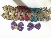 50 Units of Girls Leopard Assorted Colored Hair Clip - Hair Fancy Clips