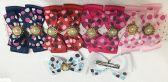 50 Units of Girls Polka Dot Rhinestone Assorted Colored Hair Clip - Hair Fancy Clips