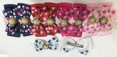 50 Units of Girls Polka Dot Rhinestone Assorted Colored Hair Clip - Hair Accessories