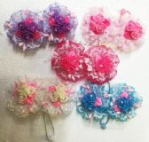 60 Units of Flower Hair Band - PonyTail Holders