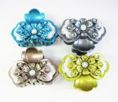 72 Units of Hair Clips/ Color Assorted With Studs - Hair Accessories