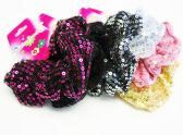 72 Units of Sparkle Hair Band / Color assorted - Hair Scrunchies