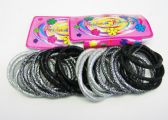 72 Units of 12 Piece Hair tie / Color assorted - PonyTail Holders