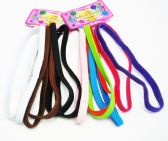 72 Units of 6 Piece Hair tie band / Color assorted - Headbands