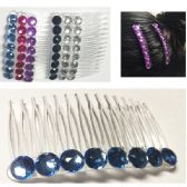 6 Units of Rhinestone With Teeth Hair Accessories - Hair Fancy Clips