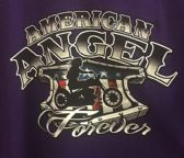 12 Units of LARGE DECAL T-SHIRT AMERICAN ANGEL WITH BIKER GIRL - Mens Shirts