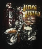 12 Units of LARGE DECAL T-SHIRT LIVE LEGEND