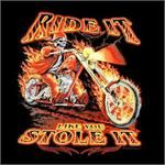 12 Units of PRINTED T-SHIRT RIDE IT LIKE STOLE IT