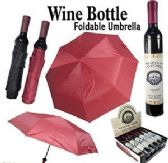 12 Units of Wine Bottle Umbrellas - Umbrellas & Rain Gear
