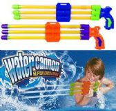 "24 Units of 19"" 3-Nozzle Pump Water Cannons - Water Guns"