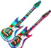 24 Units of Inflatable Tie Dyed Guitars - Summer Toys
