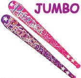 48 Units of Jumbo Inflatable Princess Bats - Summer Toys
